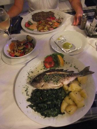 Konoba Toni : Rumpsteak mit Grillgemüse & Goldbrasse mit Kartoffel Mangold
