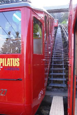 Hotel Pilatus-Kulm: Steep railway - what amazing trip that was!