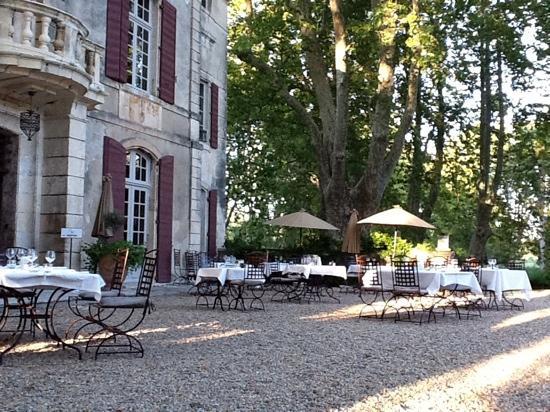 restaurant picture of chateau de roussan saint remy de. Black Bedroom Furniture Sets. Home Design Ideas