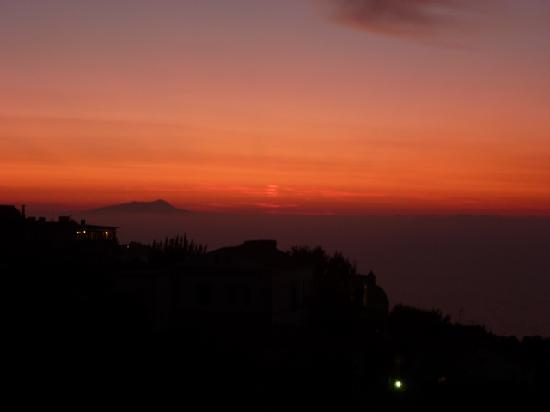 Il Nido Hotel Sorrento: vista de atardecer, hermoso!!!