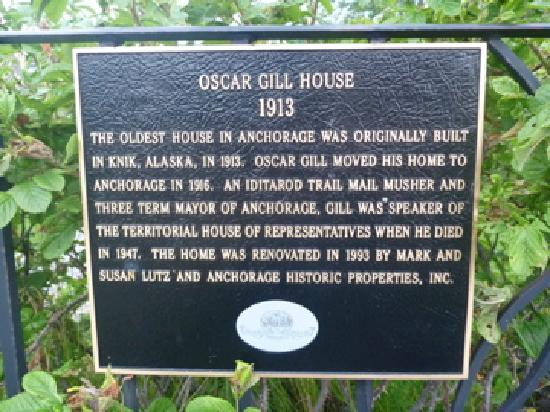Oscar Gill House Bed and Breakfast: A bit o' history on Oscar Gill House