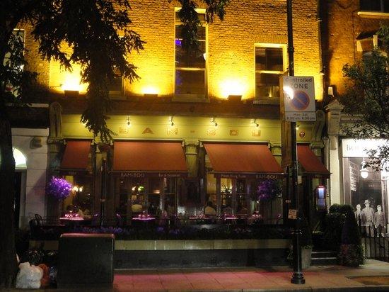 Bam-Bou Restaurant: l'ingresso in Percy Street