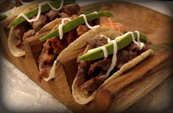 Xulam The Mayan Fisher: meat Tacos, Salted Meat, Flank Steak, Adobo Meat & home made sausage