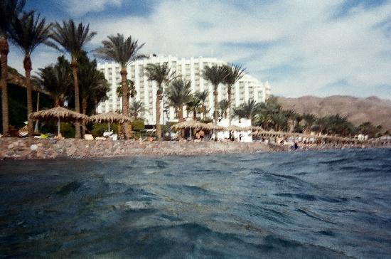 ฮิลตัน ทาบา รีสอร์ท แอนด์ เนลสัน วิลเลจ: Looking at the hotel while snorkeling