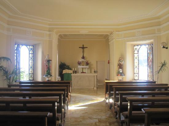 Villa Helios: church inside hotel