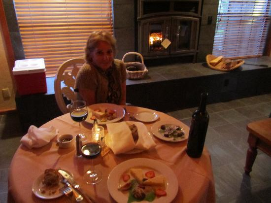 Sonoma Coast Villa Resort and Spa: Our private dinner for 2