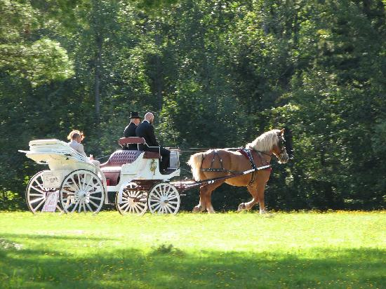 Bucksteep Manor Inn and Conference Center: Riding off on the beautiful grounds of Bucksteep