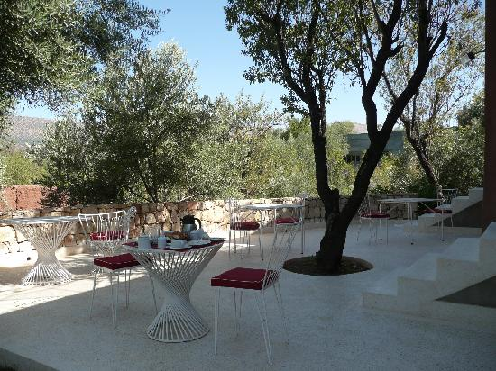 Domaine Malika: Breakfast terrace