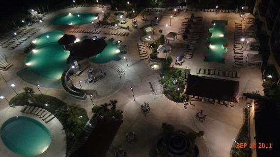 North Beach Plantation: Pools at night