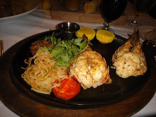Bahamian Club : Twin Lobster entree...not on menu but is part of the gourmet meal plan