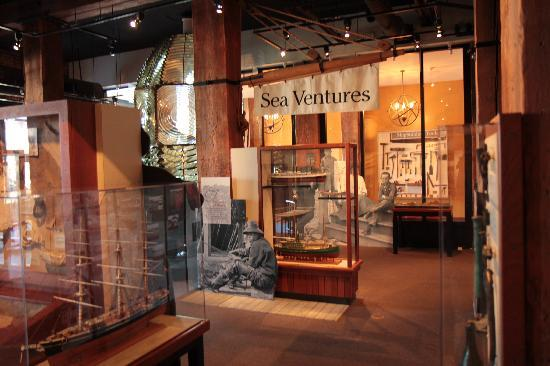 San Francisco Maritime Museum/Aquatic Park Bathhouse Building: Some of the museum displays