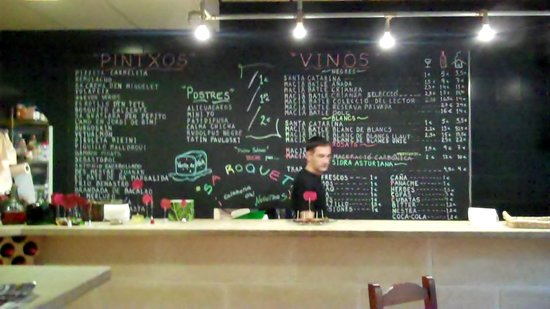 Ca'n Pintxo: The menu