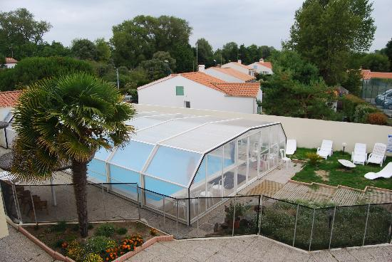Auberge La Chaumiere : View from the verandah