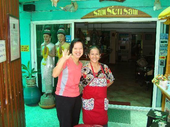 Sam Sen Sam Place: The owner & the chef.