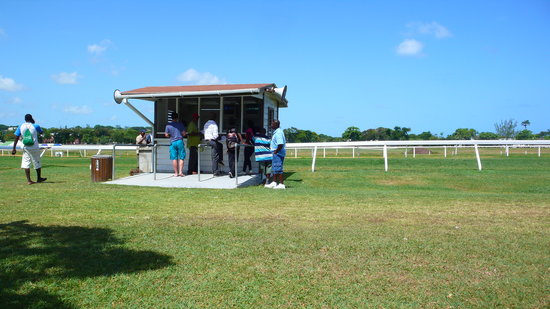 Barbados Turf Club: The betting booth behind of which we were sitting