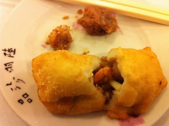 deep fried salted dumpling