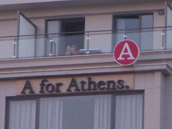 A for Athens: hotel building front