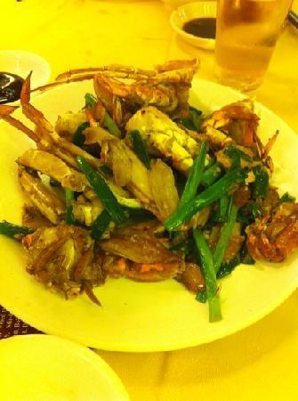 เชอราตัน ฮ่องกง โฮเต็ล แอนด์ ทาวเวอร์: close up of stir fried crab