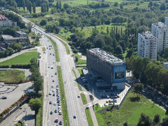 Hilton Garden Inn Hotel Krakow: Aerial shot of the hotel from the hot air balloon...