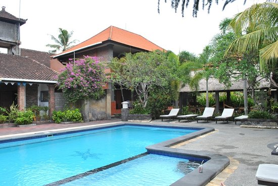 Kedin's II: Pool, the view from one of the bungalows
