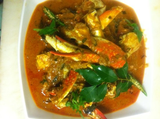 Backwaters: chef Asai crab curry.