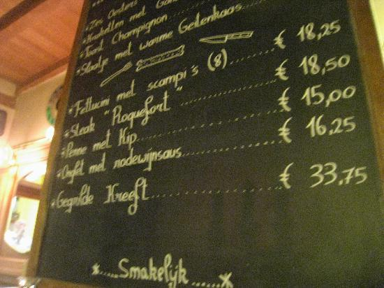 t'Klokhuys : delicious menu (and not expensive!)