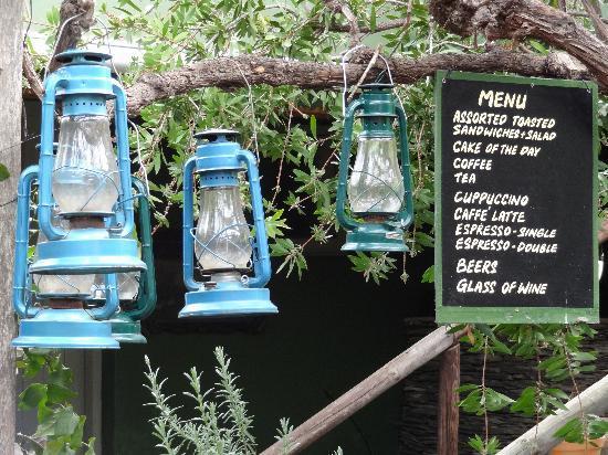 Tradouw Guest House: Garden restaurant menu