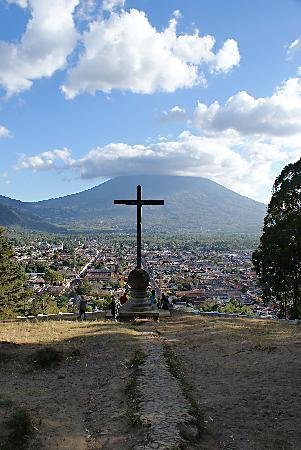 El Carmen Hotel: La Antigua from the Hill of the Cross