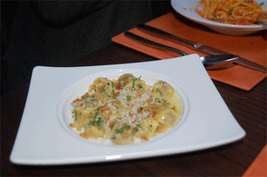Scarpetta : SHort rib filled Agnolotti - little puffs of creaminess.