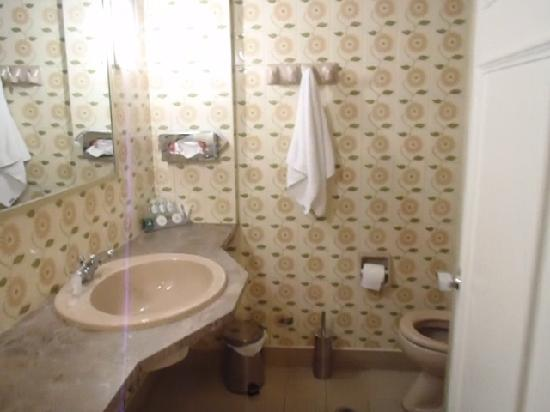 Oasis Hotel Apartments: Το μπάνιο ήταν απλά αποδεκτό, όχι καθαρό πάντως.