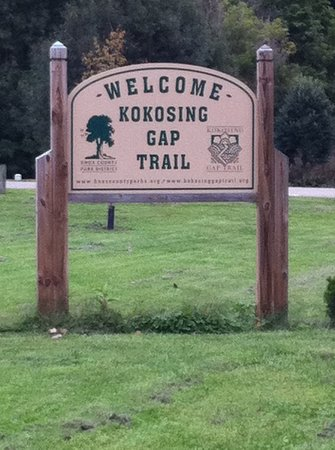 Kokosing Gap Trail: Sign at main entrance