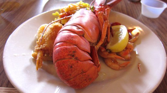 Boston Lobster Feast : Average size of lboster served