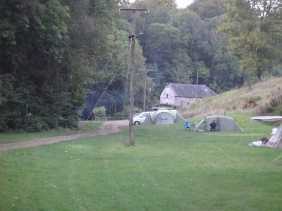 Priory Mill Farm Campsite: A view from the campervan