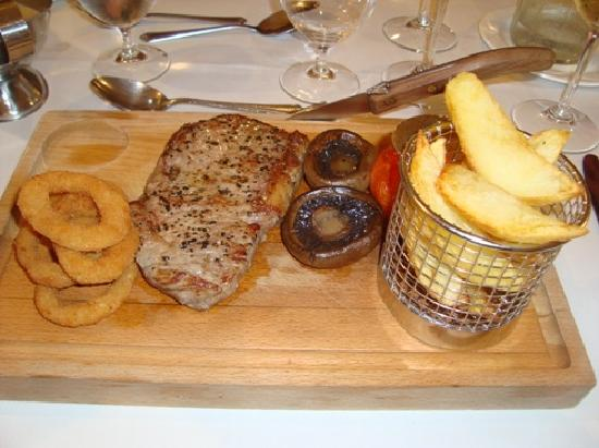 Boxmoor Lodge Hotel: The steak