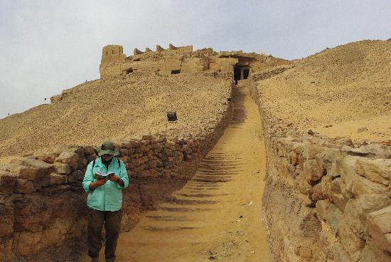 Stairs to Tombs of the Nobles, Aswan