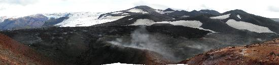 Mountain Climbing (Iceland Hiking) - Day Tours: View over lava and glacier