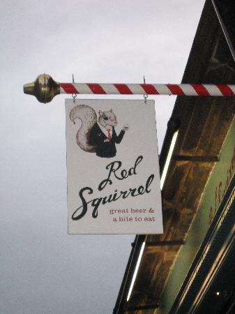 Red Squirrel: Sign for the bar