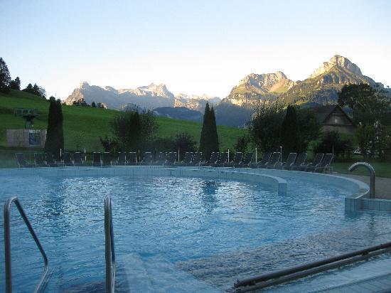 Swiss Holiday Park : Early morning swim.