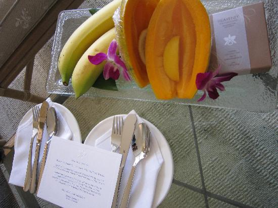 Halekulani Hotel: ウェルカムフルーツ
