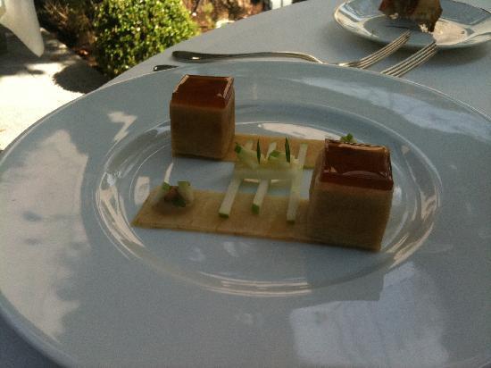 La Villa Archange: foie gras fumé aux pommes