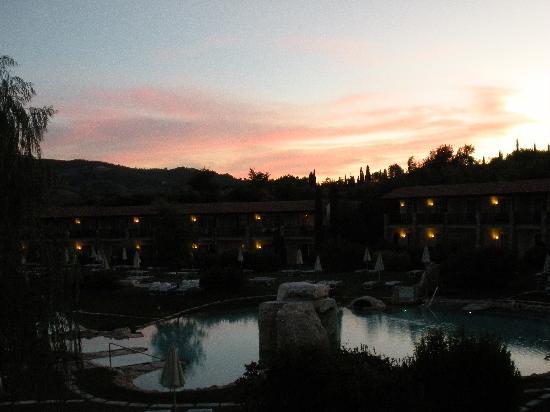 Adler al tramonto bild von adler spa resort thermae bagno vignoni