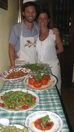 La Tavola Marche Agriturismo & Cooking School: Check out our fabulous food we made during our cooking class.
