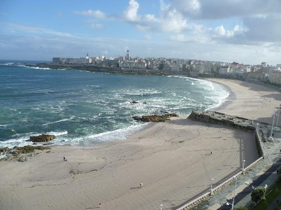 Hotel Riazor Coruna: view from 10th floor