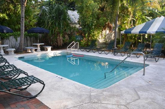 Pool view to main building bild fr n chelsea house hotel for Chelsea pool garden key west
