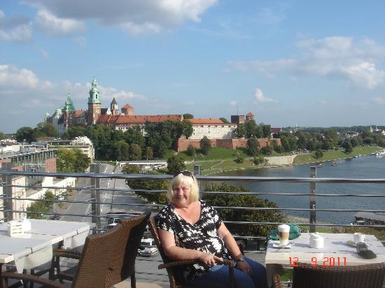 Kossak Hotel: coffee in the rooftop cafe