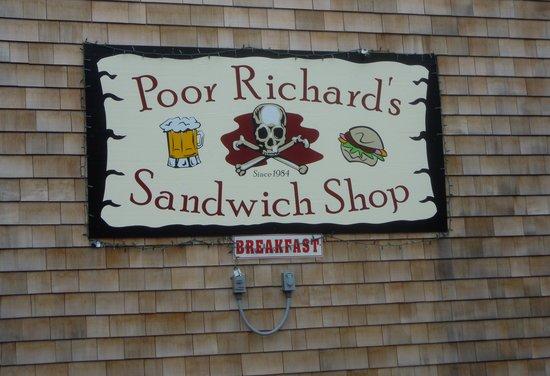 Poor Richard's Sandwich Shop : Buyer beware.....