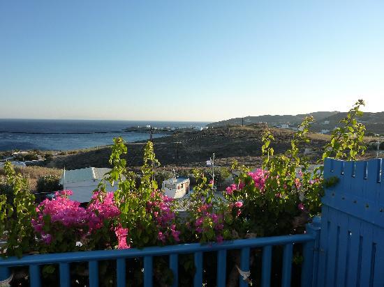 Hotel Alkyon Siros: Vue sur la mer  depuis le balcon