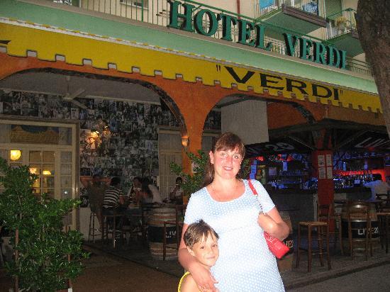 Hotel Verdi: My sister and nephew