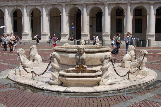 Piazza Vecchia: Fuente de la plaza
