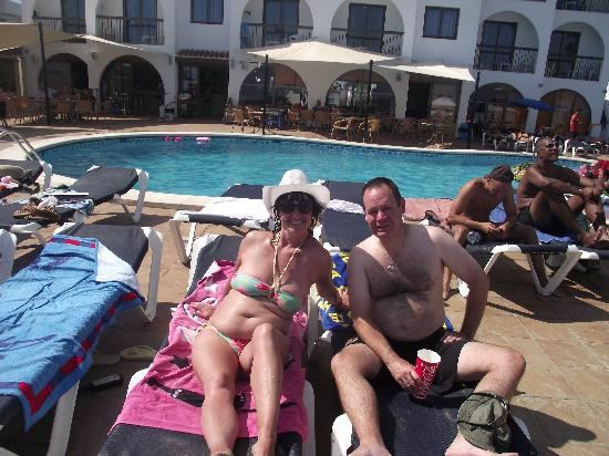 Apartamentos Sal Rossa Ibiza: me and my boyfriend adrian  topping up our tans